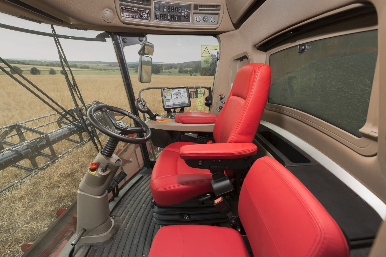 The new Case IH Axial-Flow 250 combine harvesters with a new